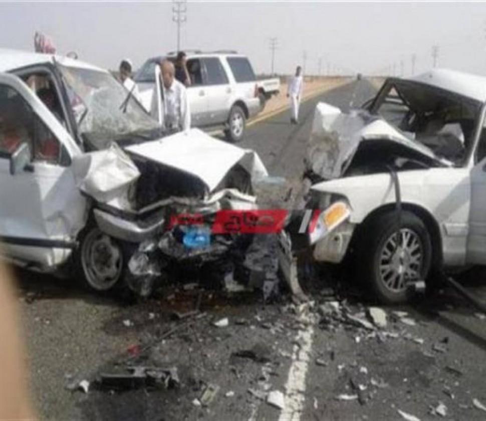 إصابة 4 أشخاص إثر حادث تصادم مرورى على الطريق الصحراوى الشرقى بسوهاج