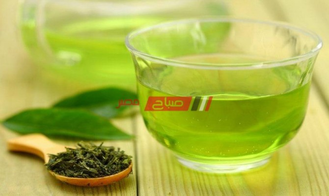 طريقة عمل مشروب الشاي الاخضر بماء الورد لانقاص الوزن