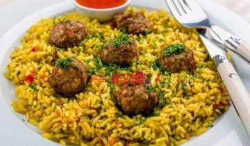 طريقة عمل الأرز البسمتى بكرات اللحم المفروم لإفطار مميز فى رمضان 2021 على طريقة الشيف سارة عبد السلام