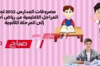 مصروفات المدارس 2022 لجميع المراحل التعليمية من رياض أطفال إلى المرحلة الثانوية