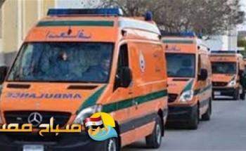 اصابة 3 أشخاص في حادث تصادم سيارة شرطة مع تروسيكل في اسيوط