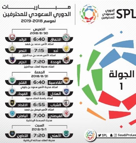 جدول مباريات الدوري السعودي للمحترفين 2021
