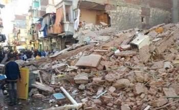 انهيار اجزاء من عقار بدون اصابات فى الاسكندرية