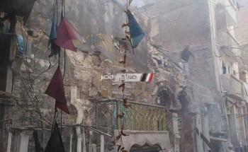 بالصور.. اشتعال النيران في عقار بسبب (عقب سيجارة) في محافظة الاسكندرية