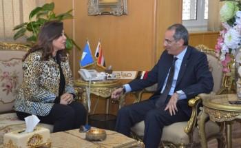 محافظ دمياط تستقبل وزير الإتصالات و يبحثان سبل تعزيز التعاون المشترك