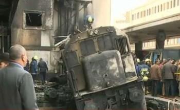 ننشر تفاصيل حادث احتراق محطة مصر و انتشال 28 جثة