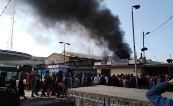 اندلاع حريق هائل بمحطة مصر وسقوط ضحايا من المواطنين (صور)