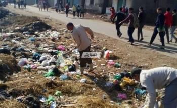 بدء اعمال حملة النظافه بهندسة أبوالريش بحرى بالبحيرة بعد شكاوى الاهالي