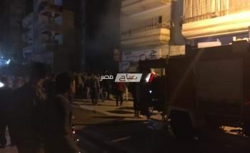 اخماد حريق هائل نشب في شركة مستحضرات تجميل بدمياط … صورة و فيديو
