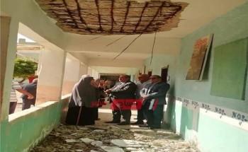 في أول يوم دراسة.. انهيار الطابق العلوي لـ مدرسة وإخلائها من التلاميذ قبل وقوع كارثة