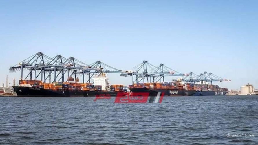 انتظام حركة الملاحة البحرية في ميناء دمياط واستقرار الأحوال الجوية