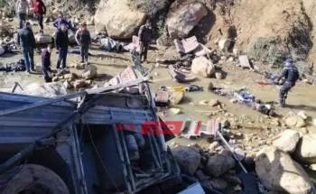 فيديو يرصد لقطات حصرية لانقلاب حافلة سياحية في السنوسي عين دراهم بتونس ووفاة 22 شخصاً وإصابة 21 آخرين