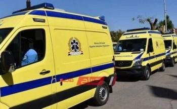 مصرع 6 أشخاص وإصابة 2 أخرين فى حادث مروع ببنى سويف