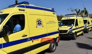 اصابة شخصين في حادث تصادم بين سيارة ملاكي ودراجة بخارية على طريق مدينة رأس البر
