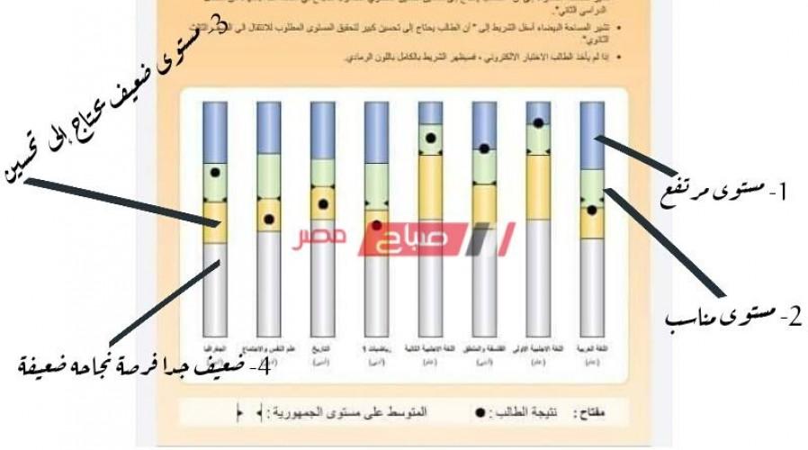 شرح معنى الألوان في نتيجة أولى ثانوي وكيفية التعرف على تقديرات الطالب بسهولة