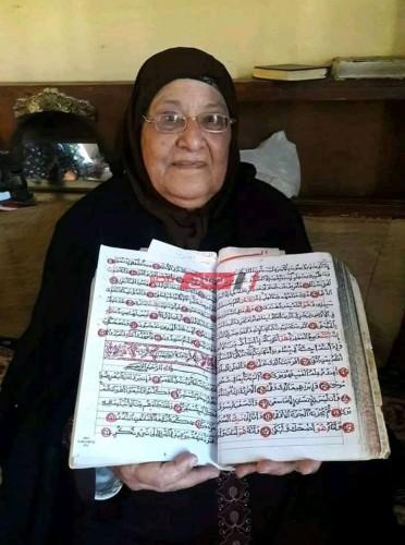 مسنة تكتب القرآن بخط الأيد في عامين