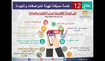 إطلاق 12 خدمة مميكنة لهيئة المواصفات والجودة على بوابة وزارة الصناعة