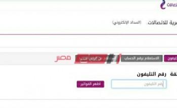 استعلام فاتورة التليفون الأرضي من المصرية للاتصالات بالاسم – فاتورة التليفون الأرضي نوفمبر 2020