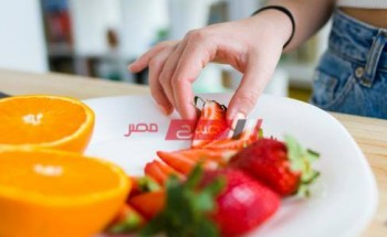 جدول نظام غذائي صحي لخسارة الوزن