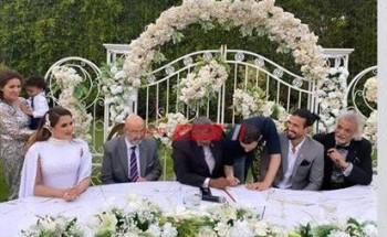 رامي صبري يعقد قرانه على شيما صابر