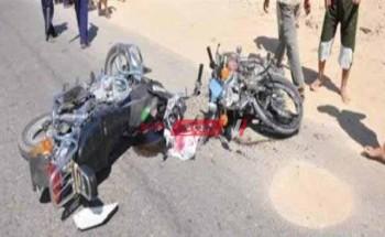 بالاسماء اصابة شخصين جراء حادث تصادم مروع على طريق السعيدية بدمياط