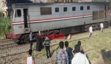 حادث قطار فى الشرقية يسفر عن إصابة شاب
