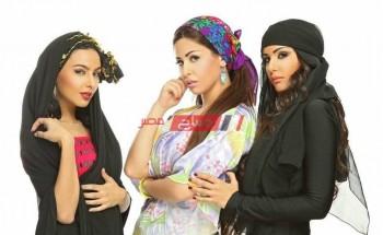 دانا حمدان وشقيقاتها بلوك الجلابية والمنديل المزين