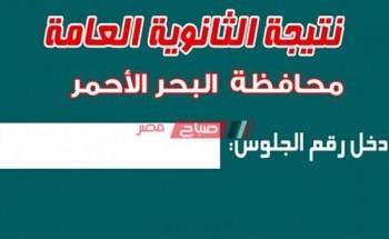 رابط نتيجة الثانوية العامة 2020 محافظة البحر الأحمر وزارة التربية والتعليم