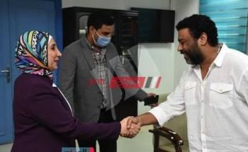 محمد جمعة يقدم دعم لـ مركز الأورام السرطان بـ الفيوم