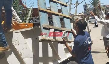 حملات إزالة اشغالات مكبرة في حي غرب بمحافظة الإسكندرية