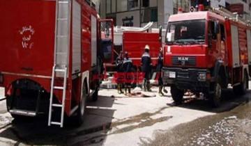 نشوب حريق داخل محل في منطقة العجمي بالإسكندرية