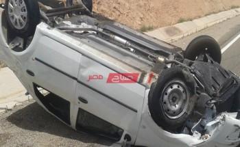 مصرع مدرس بينما أصيبت زوجته أثر حادث إنقلاب بمحافظة الدقهلية
