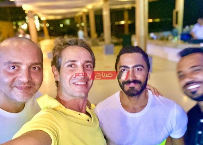 الفنان جلال الزكي يهنئ تامر حسني بعيد ميلاده