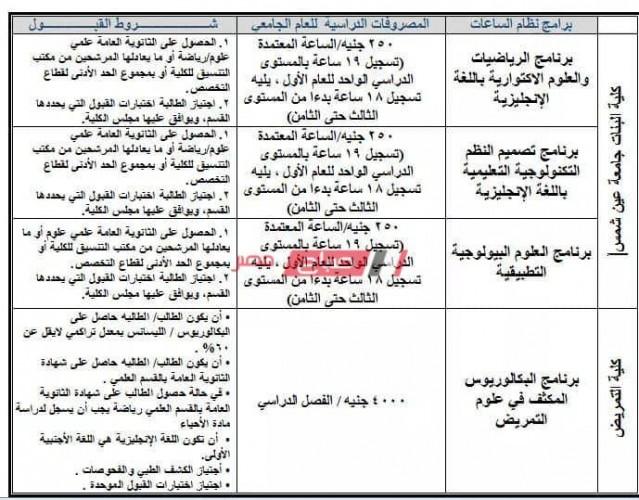 مصاريف جامعة عين شمس 2021 بعد أنباء زيادة مصر فات الجامعات الحكومية وطريقة الدفع فوري