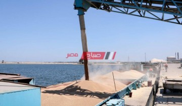 قطاران يغادران ميناء دمياط بحمولة 2719 طن قمح متجهين إلى صوامع شبرا