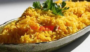 طريقة عمل أرز الكركم بحليب جوز الهند
