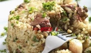 طريقة عمل أرز بكبد الدجاج وصوص الباربكيو