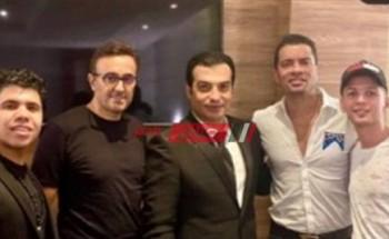 حسن شاكوش وعمر كمال برفقة صابر الرباعي وايهاب توفيق في حفل غنائي