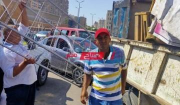حملات إزالة إشغالات مكبرة فى حى شرق بمحافظة الإسكندرية