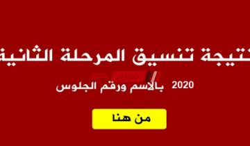 نتيجة تنسيق المرحلة الثانية لطلاب الثانوية العامة 2020