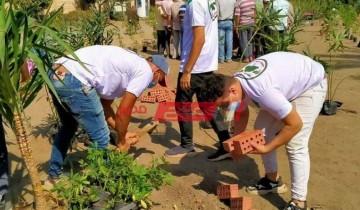 مبادرة مصر الجميلة بالغربية تقوم بزراعة 572 شجرة زينة ومثمرة