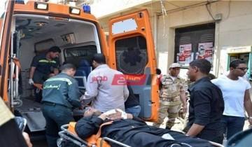 مصرع شخص وإصابة 14 أخرين إثر حادث انقلاب جنوب بورسعيد خلال 24 ساعة