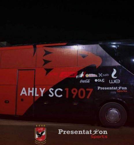 حافلة الأهلي تصل برج العرب لمواجهة أبوقير ومحاضرة سريعة من موسيماني