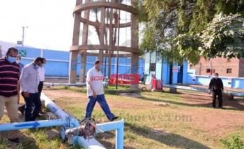 جولة محافظ أسيوط لتفقد محطتي معالجة الصرف الصحي ومياه الشرب بقرى المحافظة