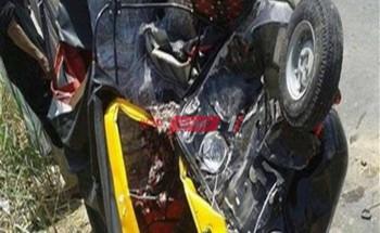 إصابة ربة منزل ونجلتها جراء حادث انقلاب فى الإسماعيلية