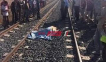 مصرع شخص دهساً أسفل عجلات القطار أمام قرية فى الغربية