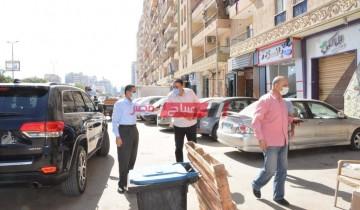 إستمرار حملات لإزالة الإشغالات في عدة شوارع بمحافظة بورسعيد