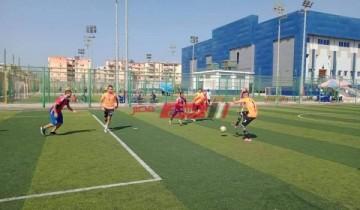 فاعليات اللقاء الختامي لدوري الأندية الصغيرة للأحياء الشعبية لخماسي كرة القدم ببورسعيد