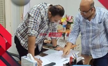 إتحاد نقابات المهن الطبية ببنى سويف يبحث مستجدات الإنتهاء من المبنى الإدارى الجديد بشركة المقاولات