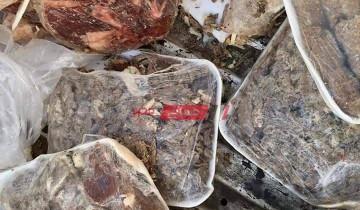 ضبط 70 كيلو لحوم ومصنعات غير صالحة للاستهلاك في حملة مكبرة بدمياط